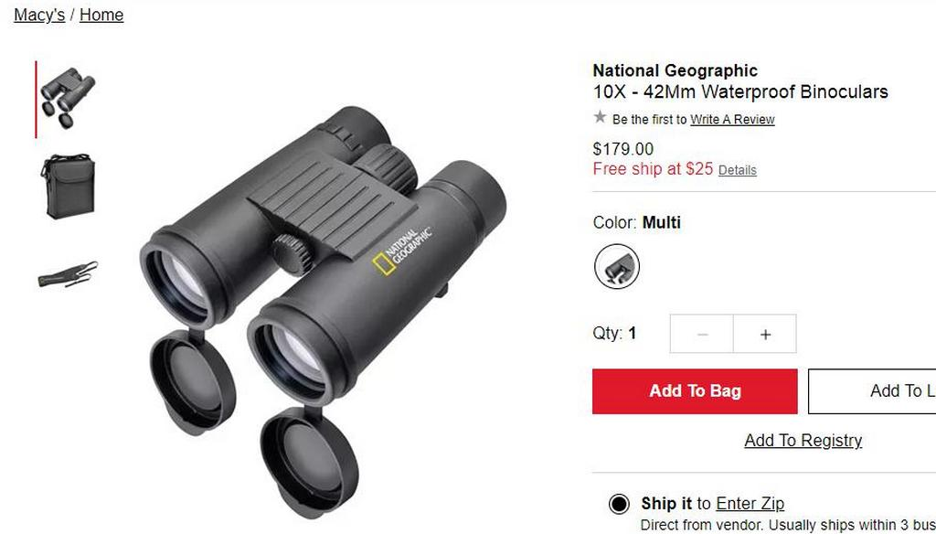 "бинокль под брендом ""National Geographic""."