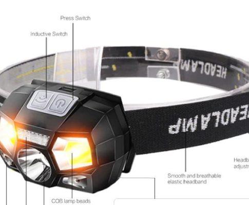 Лучший налобный фонарик с ИК сенсором