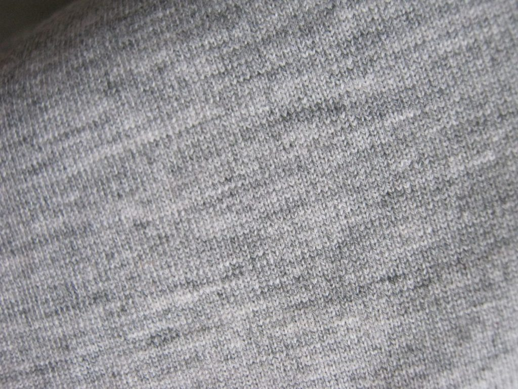 Текстура ткани футболки Джек Джонс для расцветки Melange Gray.